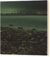 Moonlit Night - The Point Wood Print