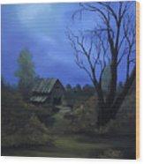 Moonlit Path Wood Print