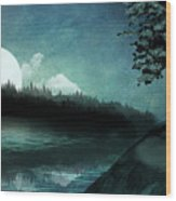 Moonlit Peace Wood Print