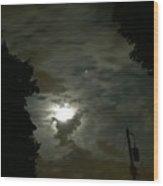 Moonlit Strip Wood Print