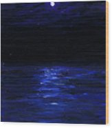 Moonlit Water Mini Oil Painting On Masonite Wood Print
