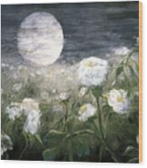 Moonpoppies Wood Print