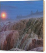 Moonrise At Mammoth Wood Print