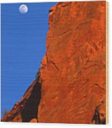Moonrise In Grand Staircase Escalante Wood Print
