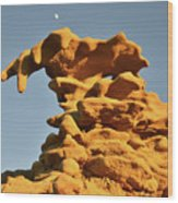 Moonrise Over Fantasy Canyon Hoodoo Wood Print