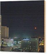 Moonrise Over New Orleans Wood Print