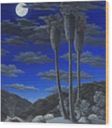 Moonrise Wood Print by Snake Jagger