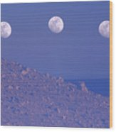 Moons And Dunes Wood Print
