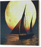 Moonsailor Wood Print