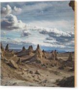 Moonscape Pinnacles Wood Print