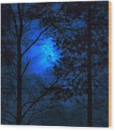 Moonshine 03 Bad Moon Rising Wood Print