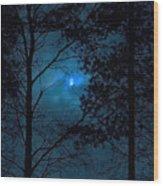 Moonshine 10 Blue Sky Wood Print