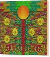 Moonshine Over The Golden Sacred Pond  Wood Print