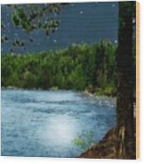 Moonstruck 'my Starry Night' Wood Print