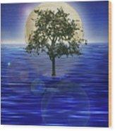 Moontree Wood Print