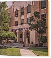 Moore County Courthouse Wood Print
