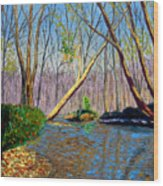 Mooresville November Wood Print