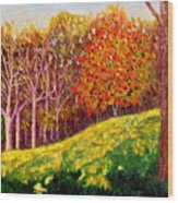 Mooresville October Wood Print