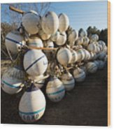 Mooring Balls, South Freeport Wood Print