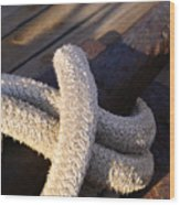 Mooring Rope Wood Print