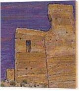 Moorish Fort In Jumilla Wood Print