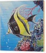 Moorish Idol Wood Print