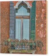 Moorish Window And Texture Venice_dsc5350_03052017 Wood Print