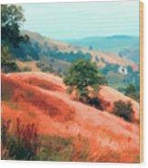 Moorland Hillside  Wood Print