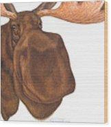 Moose Head Wood Print
