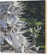 Moose Horn Tree Wood Print