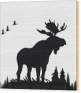 Moose Nature Wood Print