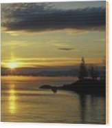 Moosehead Lake Sunrise Wood Print
