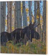 Moosey Wood Print