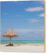 Mopion Island Wood Print