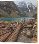 Moraine Wood Print