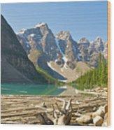 Moraine Lake - Canadian Rockies Wood Print