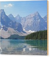 Moraine Lake Down Low Wood Print