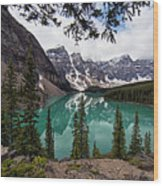 Moraine Lake Wood Print