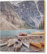 Moraine Lake Transportation  Wood Print