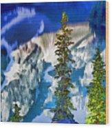 Moraine Reflections Wood Print