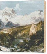 Moran: Teton Range, 1897 Wood Print