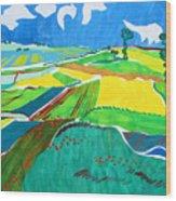 Moravian Landscape Wood Print