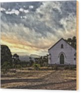 Moravian Sunset Wood Print