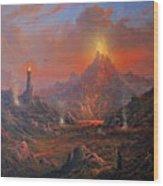 Mordor Land Of Shadow Wood Print by Joe Gilronan