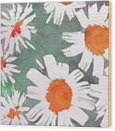 More Bunch Of Daisies Wood Print