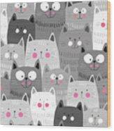 More Cats Wood Print