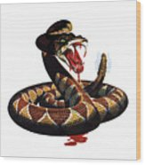 More Dangerous Than A Rattlesnake - Ww2 Wood Print