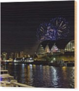 More Fireworks At Newcastle Quayside On New Year's Eve Wood Print
