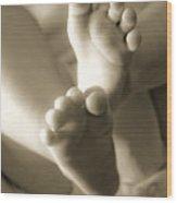 More Little Feet Wood Print