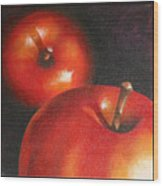 More Red Apples Wood Print by Jose Romero